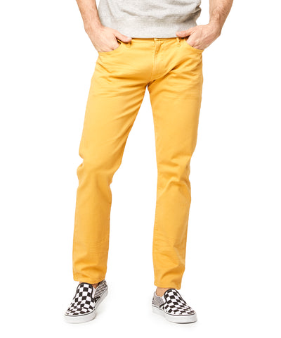 Slim Fit 5-Pocket Garment-Dyed Stretch Twill in Mustard