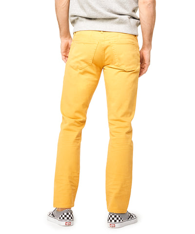 5-Pocket Garment-Dyed Stretch Twill in Mustard