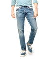 Slim Fit Japanese Stretch Selvedge Jean in Destroyed Wash