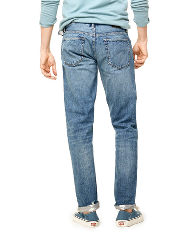 Japanese Stretch Selvedge Jean in Destroyed Wash