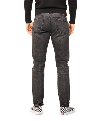 Destroyed Japanese Stretch Selvedge Denim in Black