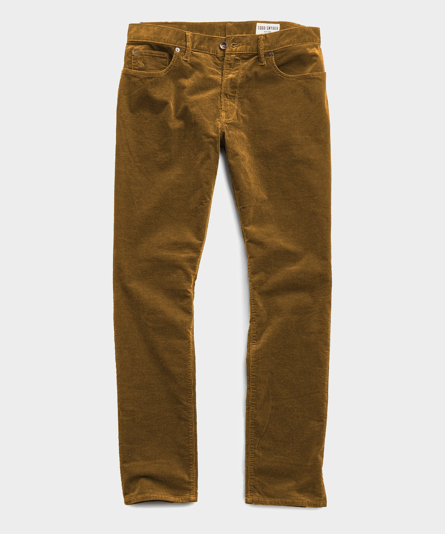 Slim Fit 5-Pocket Stretch Italian Cord in Autumn Yellow