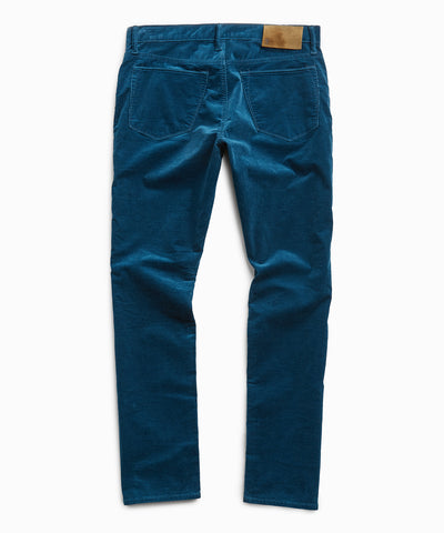 Slim Fit 5-Pocket Italian Cord in Sea Blue