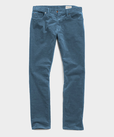 Slim Fit 5-Pocket Stretch Italian Cord in Blue
