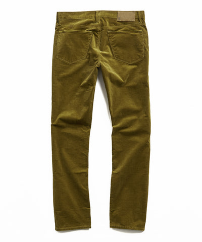 Slim Fit 5-Pocket Stretch Italian Cord in Fir Green