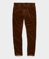 Slim Fit 5-Pocket Italian Stretch Cord in Camel