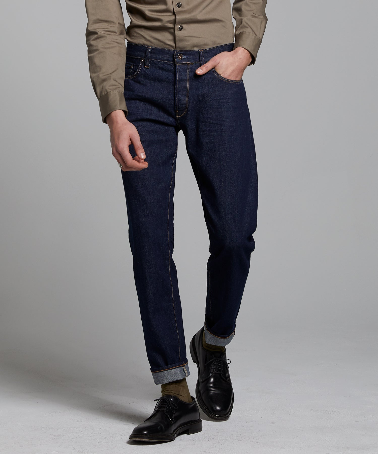 Slim Fit Selvedge Jean in Indigo Rinse