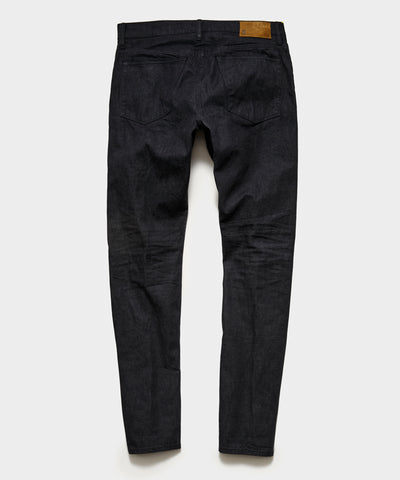 Slim Fit Lightweight Japanese Selvedge Jean in Charcoal