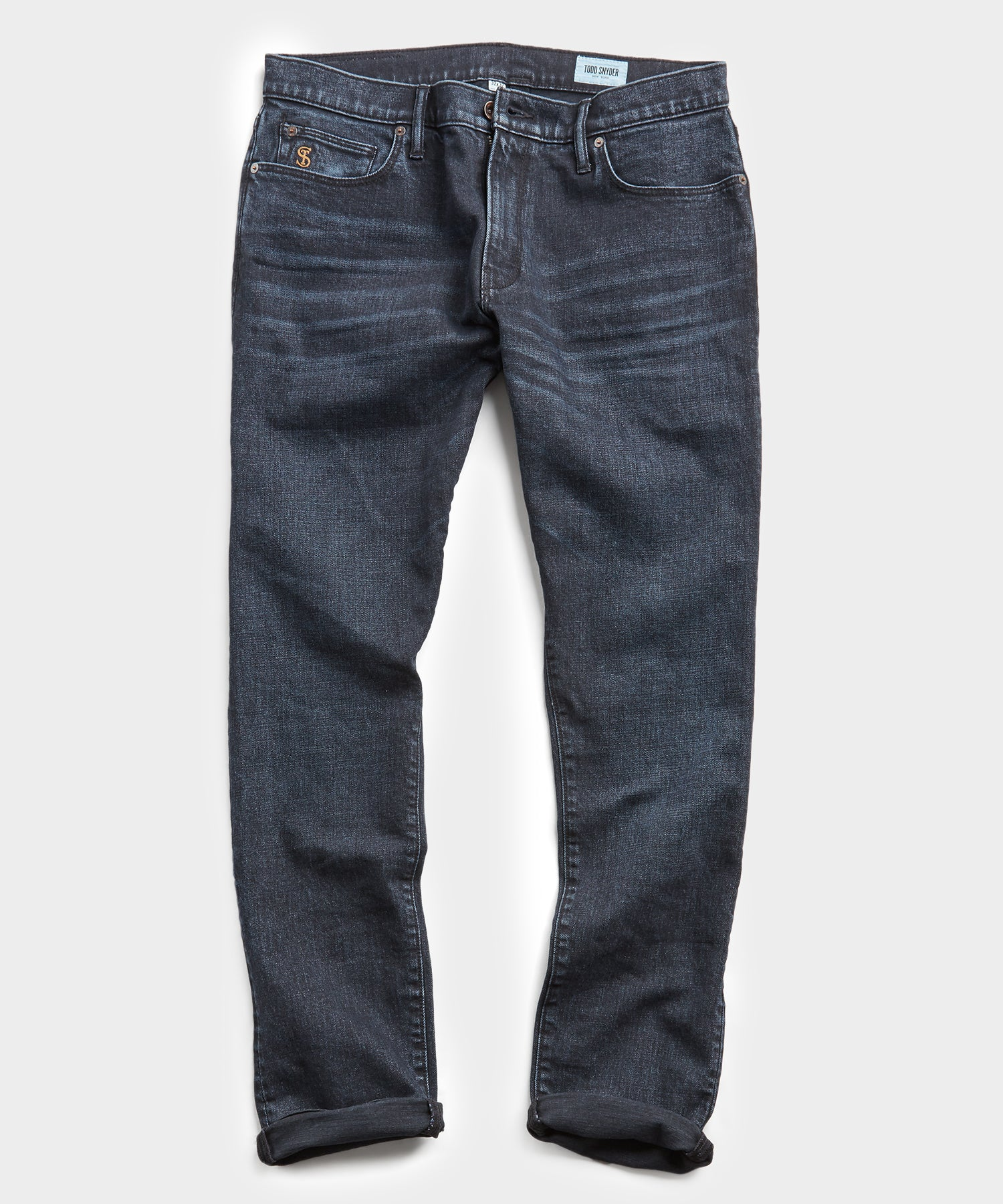 Slim Fit Black Ink Wash Denim Jean