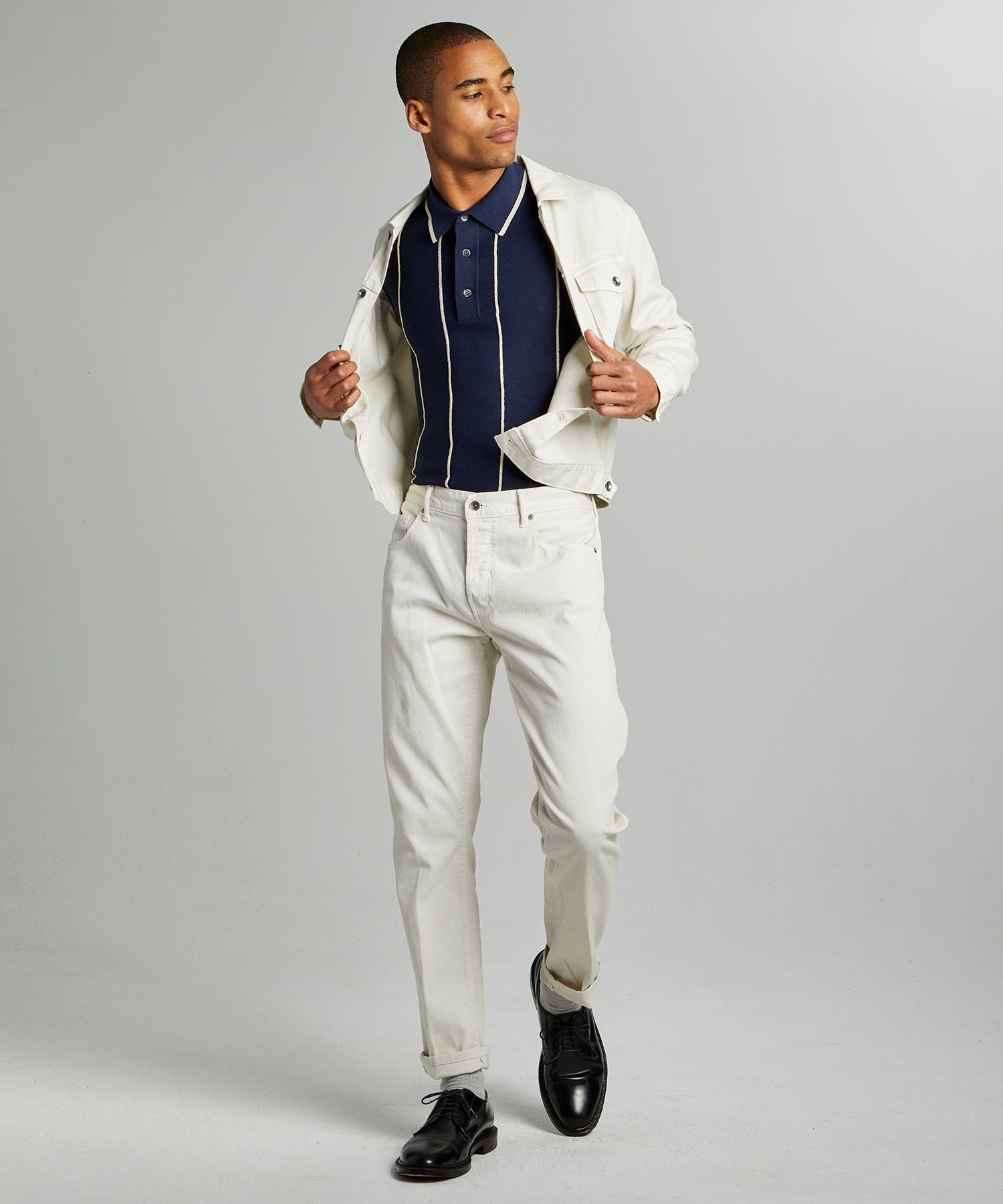 Slim 5-Pocket Bedford Cord Pant in Birch
