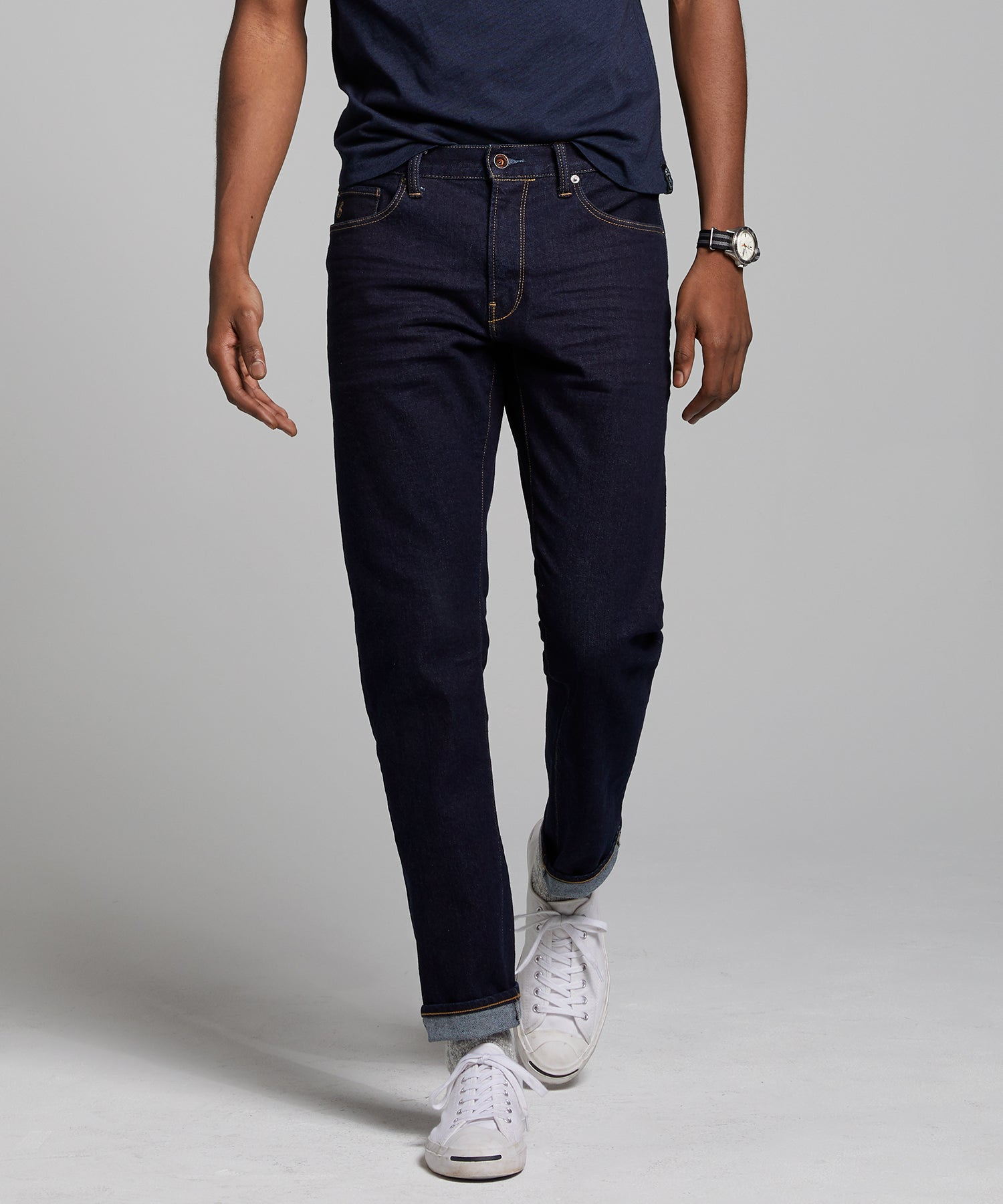 Slim Fit Stretch Jean in Indigo Rinse