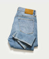 Straight Fit Stretch Jean in Medium Indigo Wash