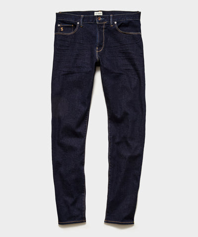 Straight Fit Stretch Jean in Indigo Rinse