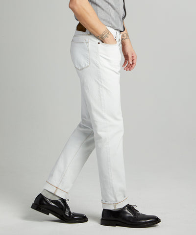 Slim Fit Stretch Jean in White Wash