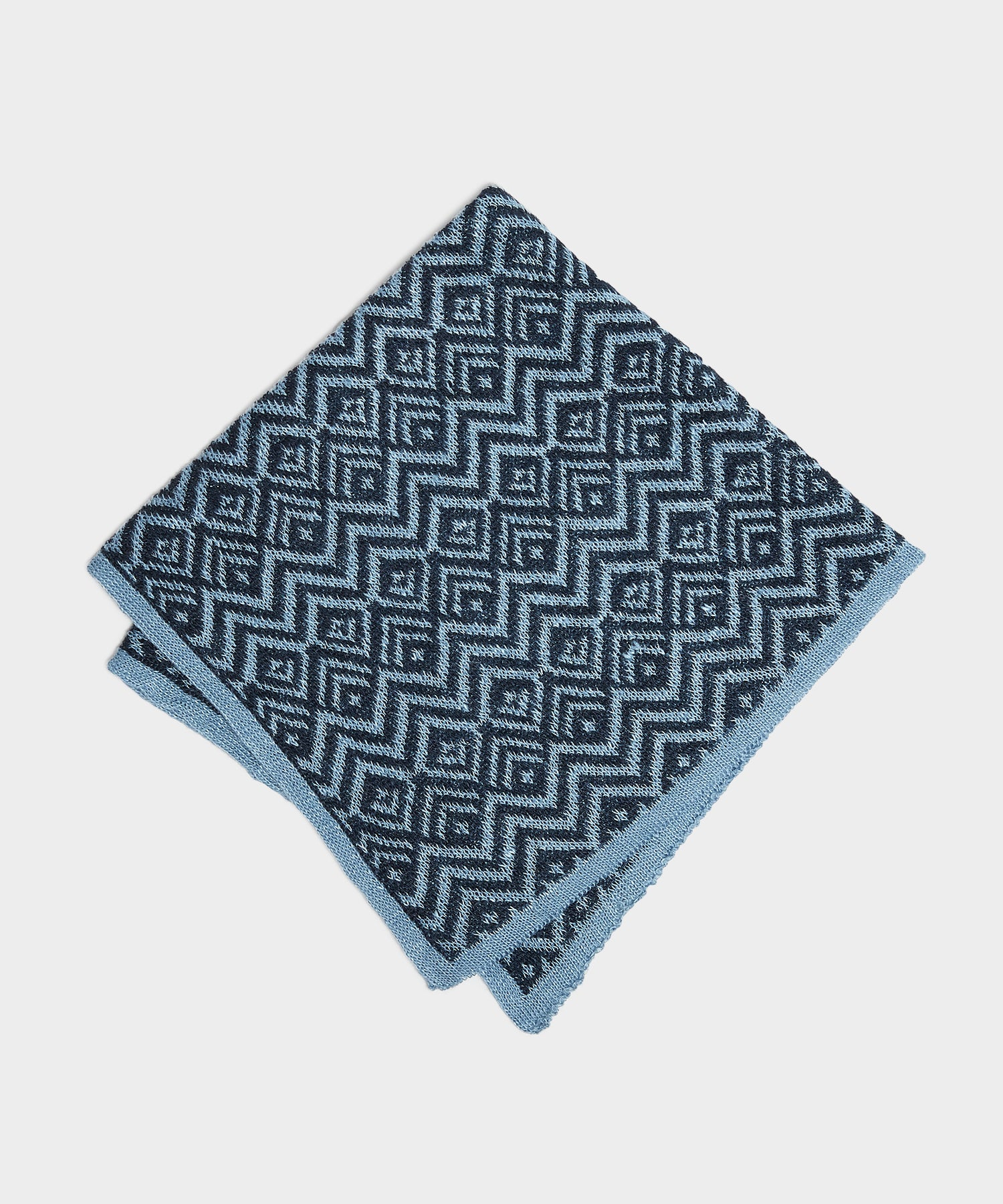 Mungai Jaquard Pocket Square in Blue