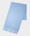 Joshua Ellis Solid Cashmere Scarf In Blue
