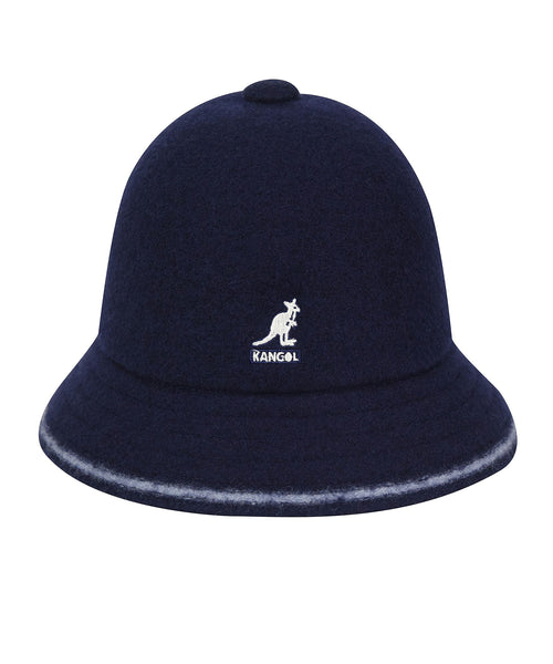 Kangol Wool Stripe Casual Bucket Hat in Navy