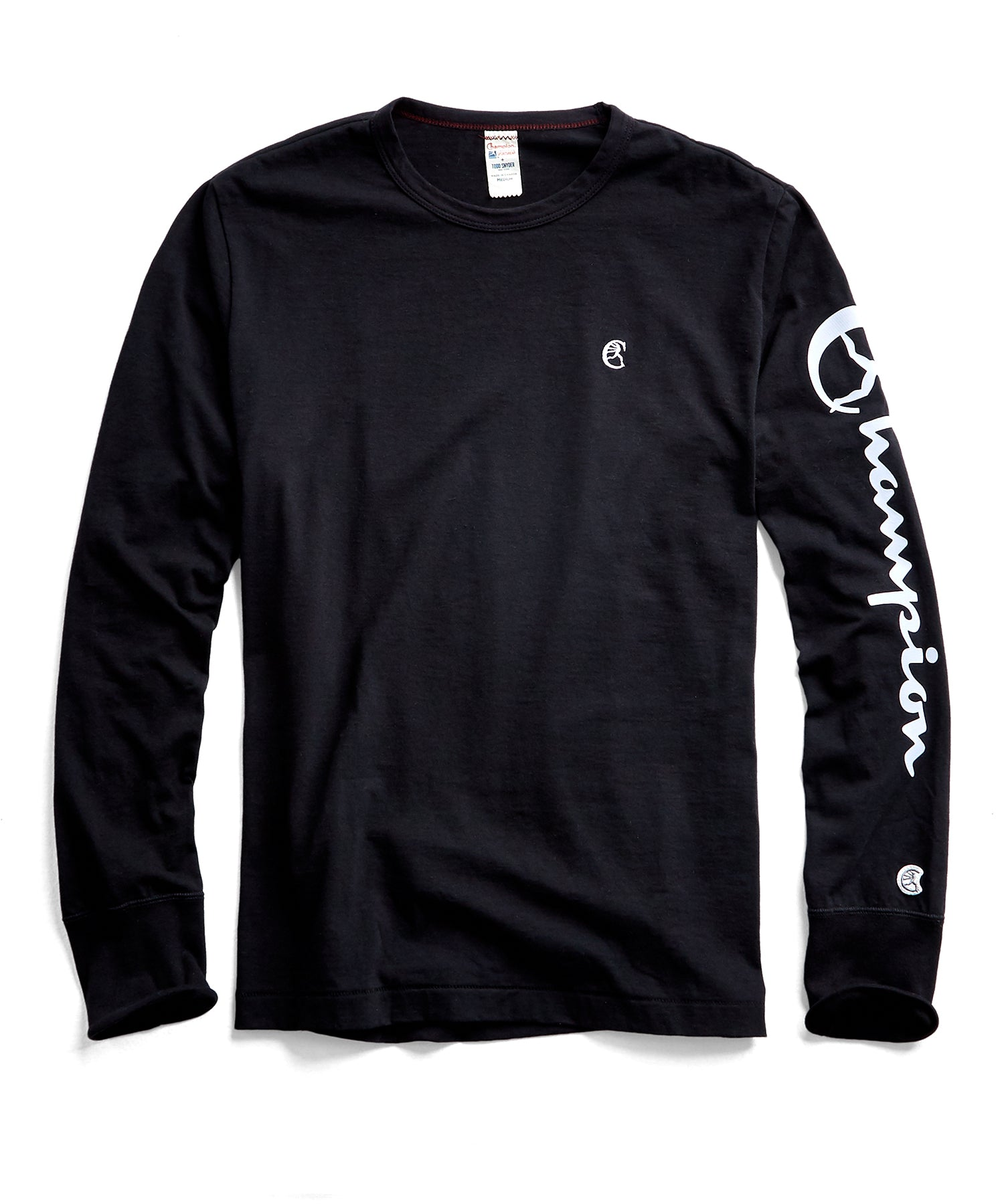 Champion Long Sleeve Arm Graphic in Black