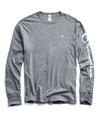 Champion Long Sleeve Arm Graphic in Salt & Pepper