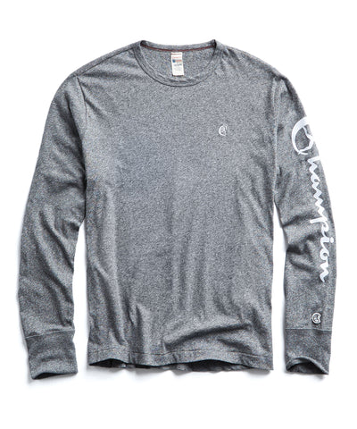 276b66aed Champion Long Sleeve Arm Graphic in Salt & Pepper WAS $88 NOW $59