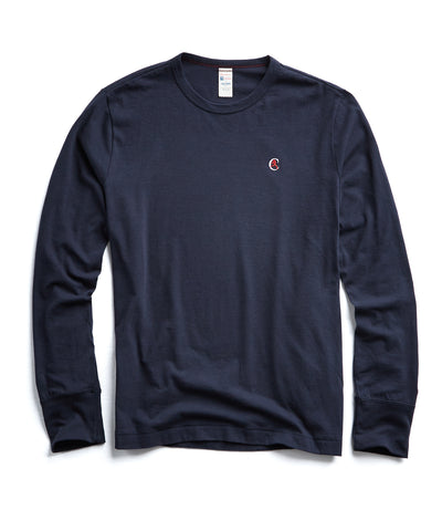 Champion Long Sleeve Back Graphic in Navy