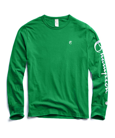 20be9da5 Champion Long Sleeve Arm Graphic in Turf Green WAS $88 NOW $59