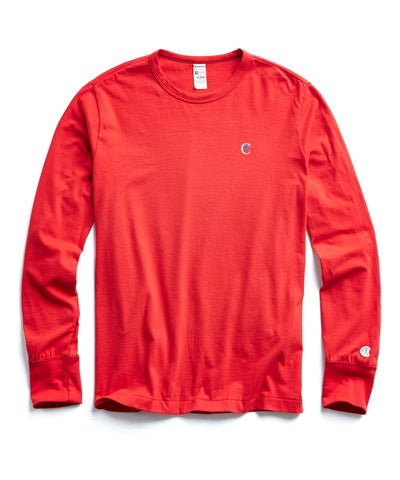 Champion Long Sleeve Back Graphic in Red