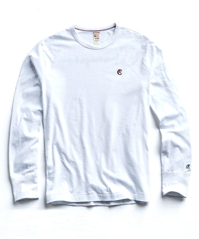 Champion Long Sleeve Back Graphic in White