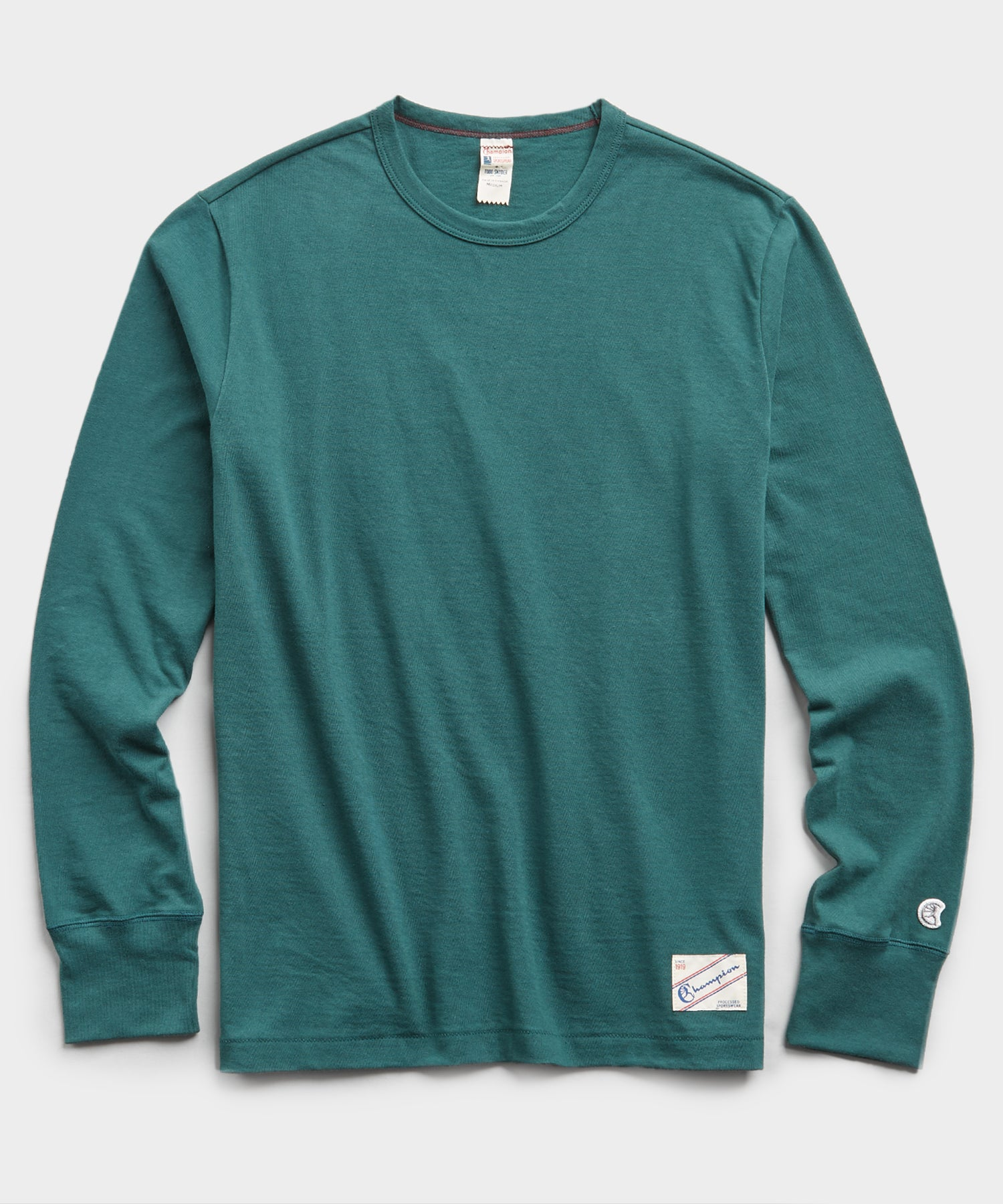Heavy Weight Long Sleeve Jock Tag Tee in Storm Green