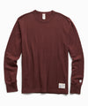 Heavy Weight Long Sleeve Jock Tag Tee in Deep Burgundy