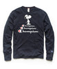 Champion X Peanuts Snoopy Long Sleeve Tee in Navy Alternate Image