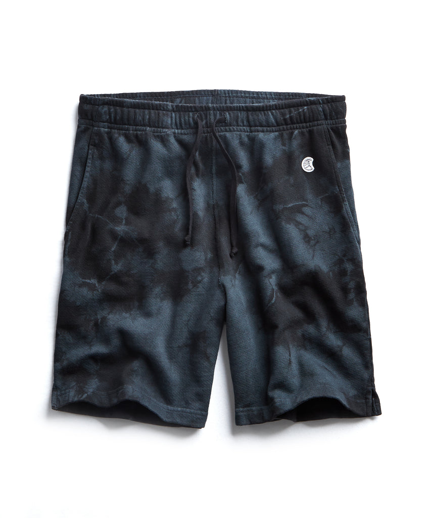 Tie Dye Warm Up Short in Black