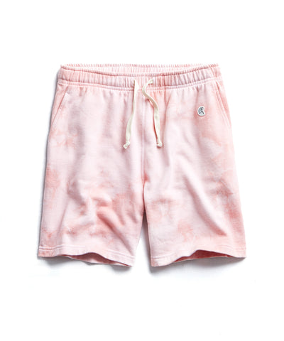 Tie Dye Warm up Short In Pink