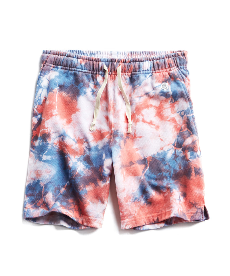 Blue Grotto Tie Dye Warm Up Short