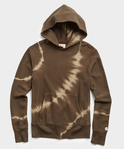 Terry Olive Tie Dye Popover Hoodie