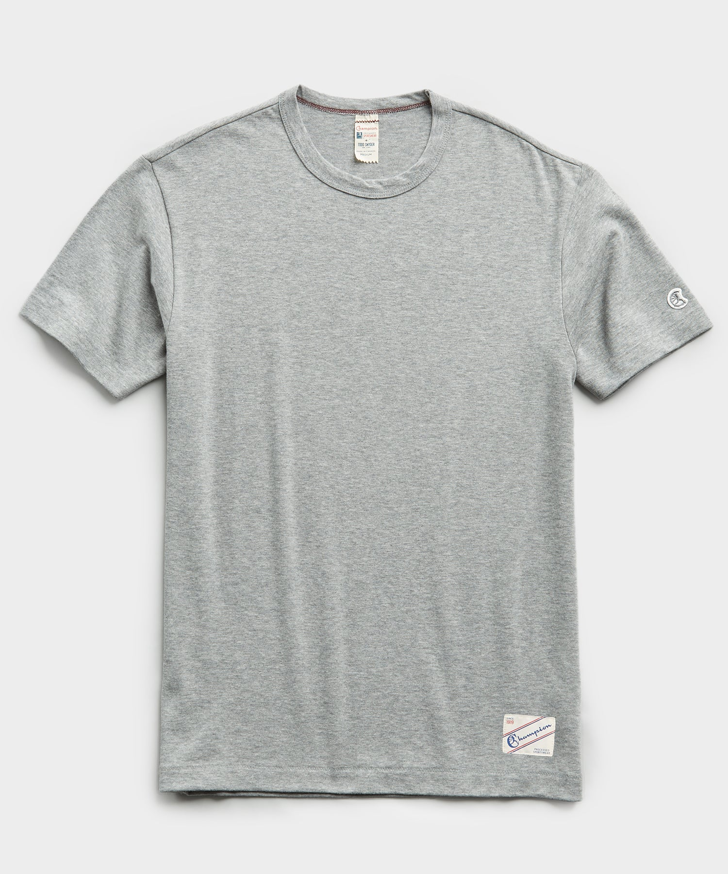 Heavy Weight Short Sleeve Jock Tag Tee in Grey Mix