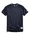 Champion Logo Rib T-Shirt in Navy