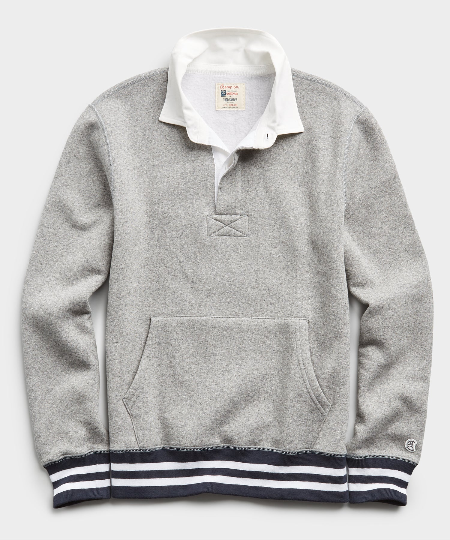 Rugby Sweatshirt in Light Grey Mix