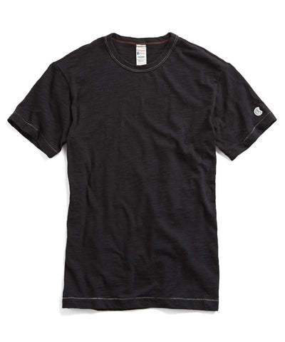 Slub Champion Classic Tee in Black