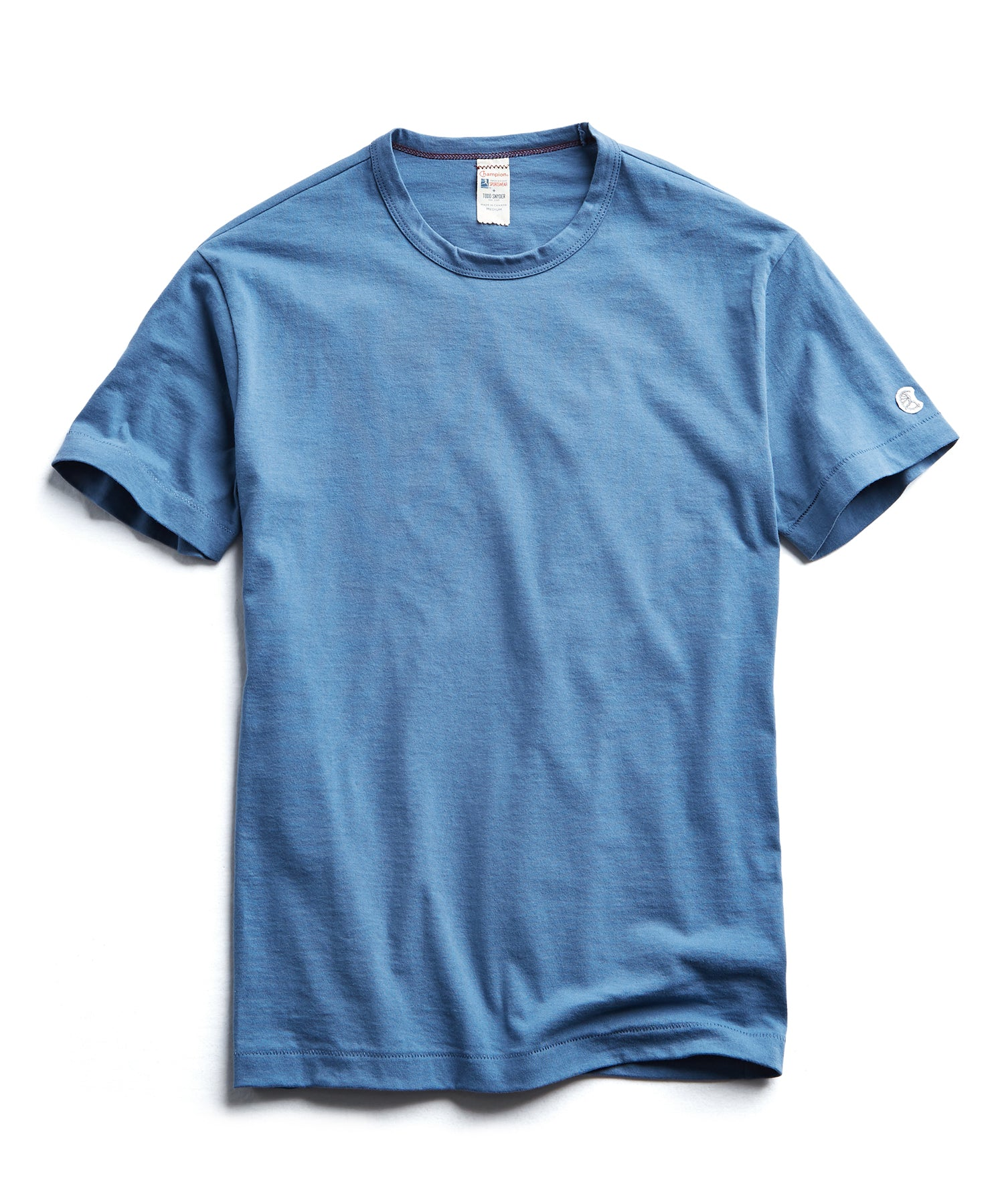 Champion Basic Jersey Tee in Blue Grotto