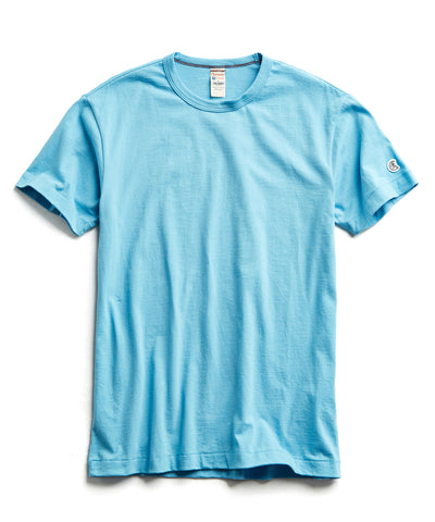 a028d740 Champion Basic Jersey Tee in Pool Blue