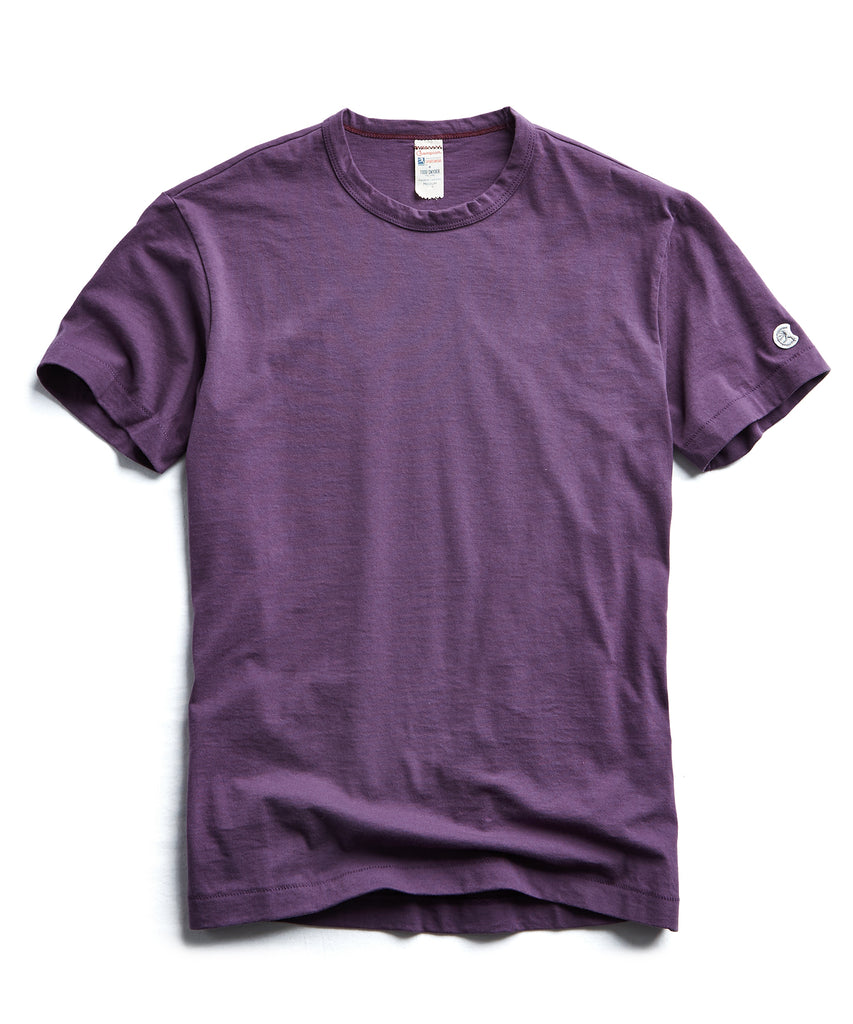 Champion Basic Jersey Tee in Plum Royale