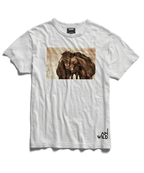 IAMWILD® Horse Graphic Tee In White