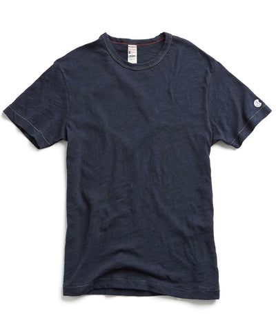 Slub Champion Tee in Navy