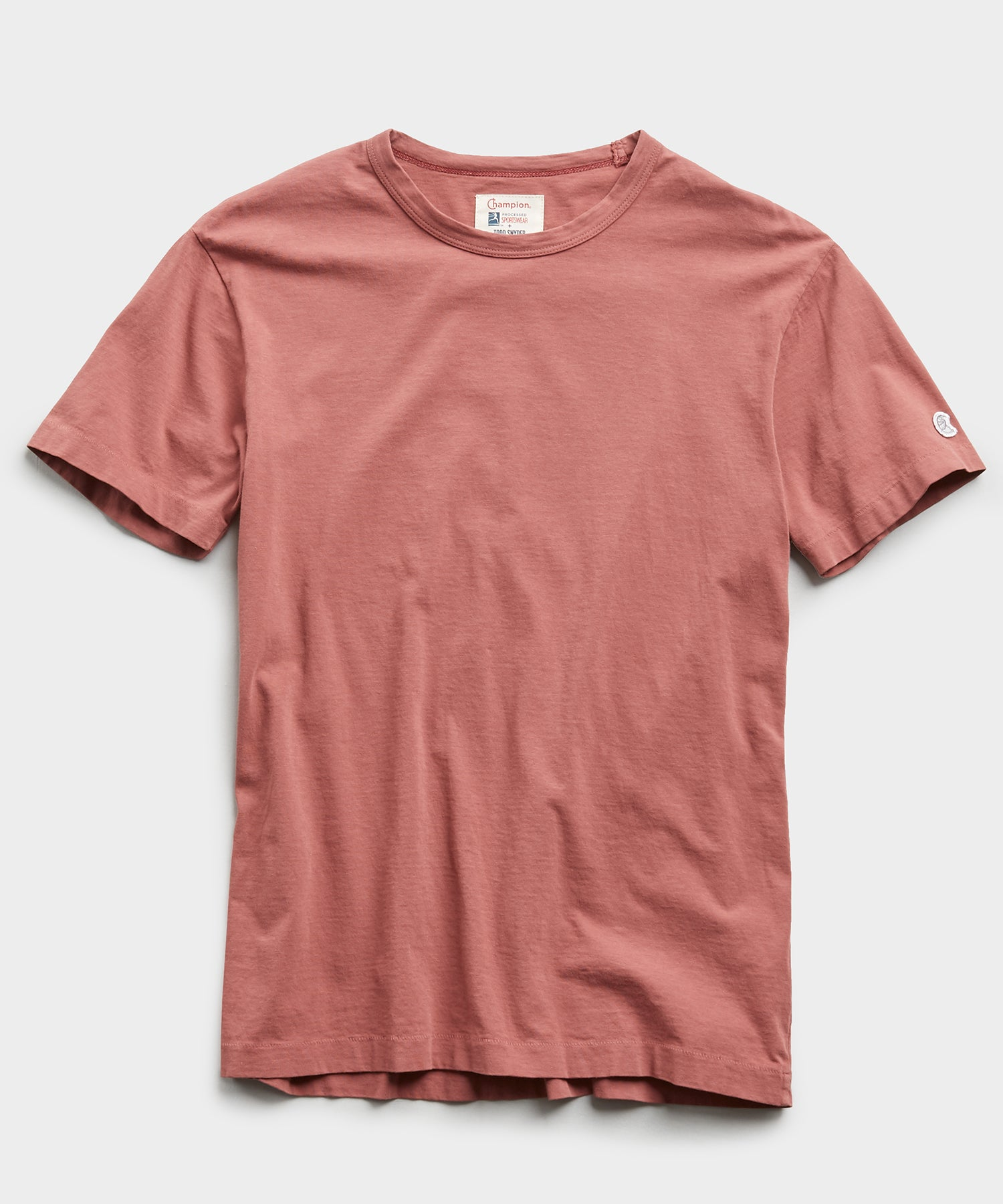 Basic Tee in Rosewine