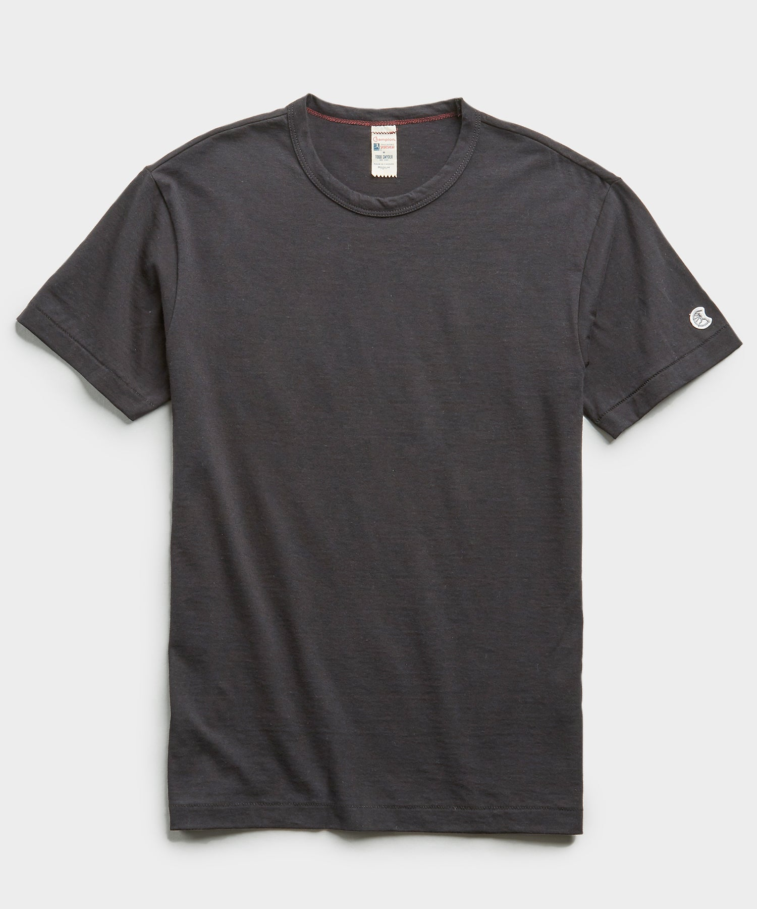 Champion Basic Jersey Tee in Asphalt
