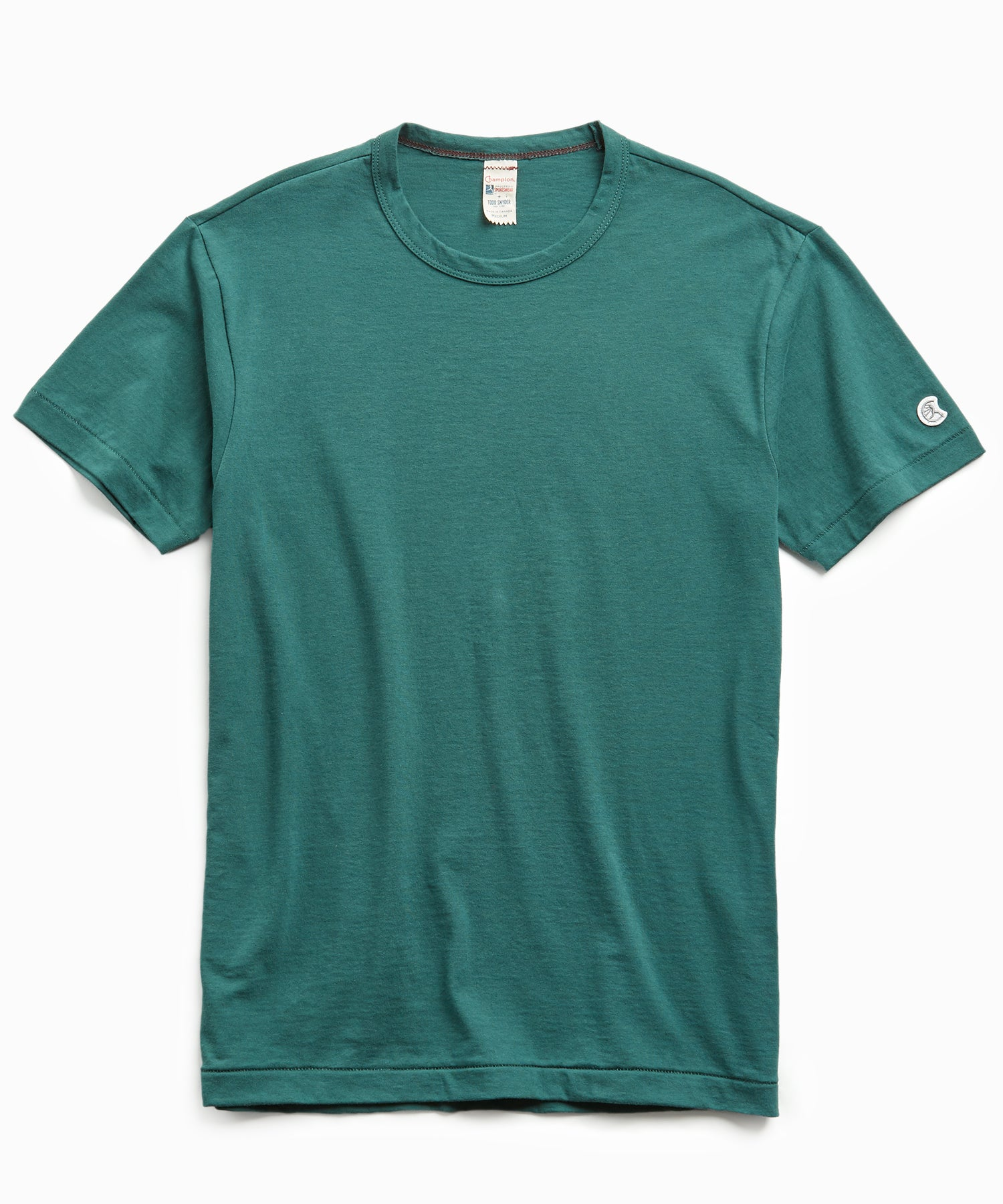 Champion Basic Jersey Tee in Storm Green