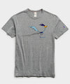 Champion + Looney Tunes Roadrunner and Wile E Coyote Tee in Grey Mix