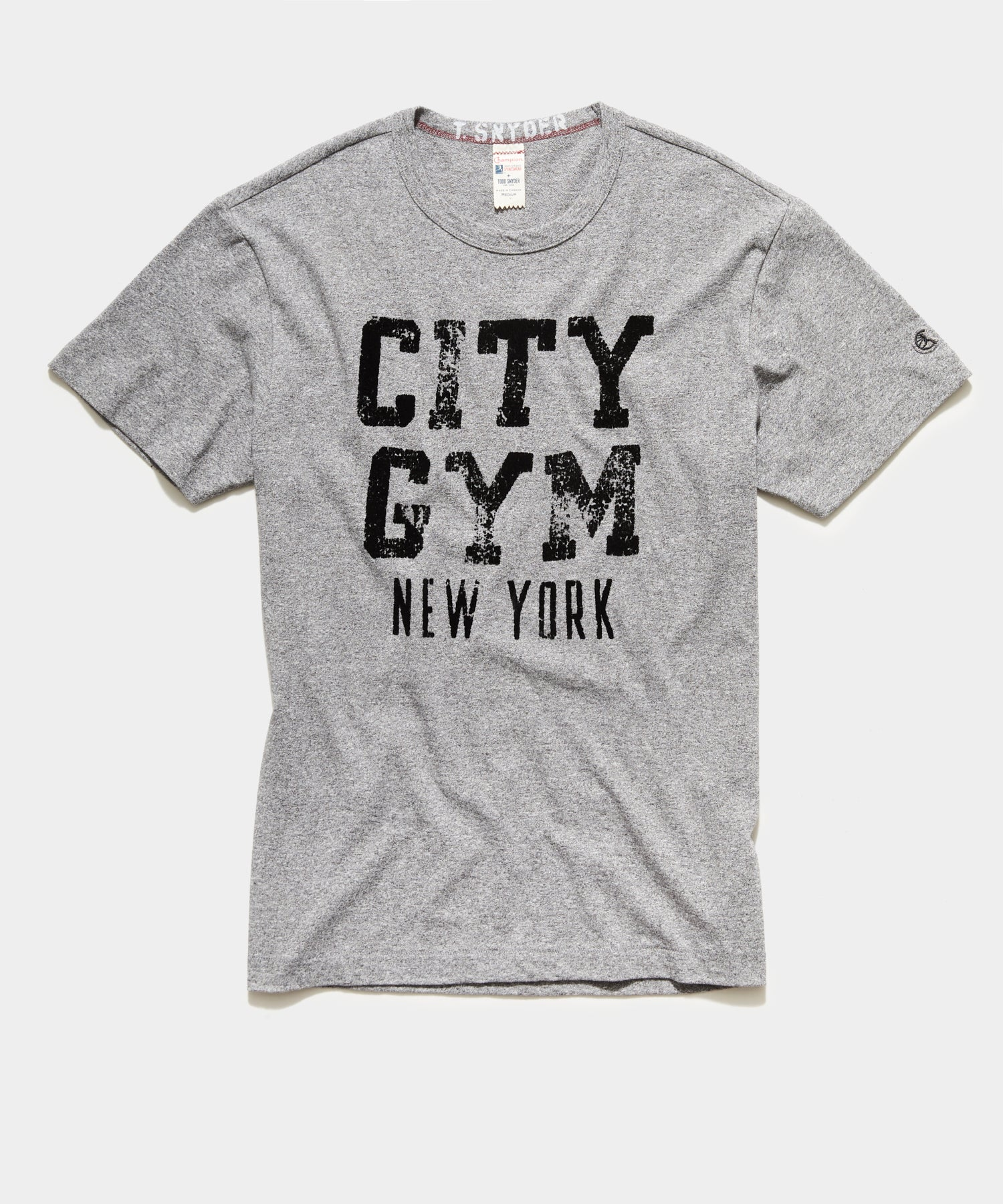 Champion City Gym New York Tee in Salt and Pepper