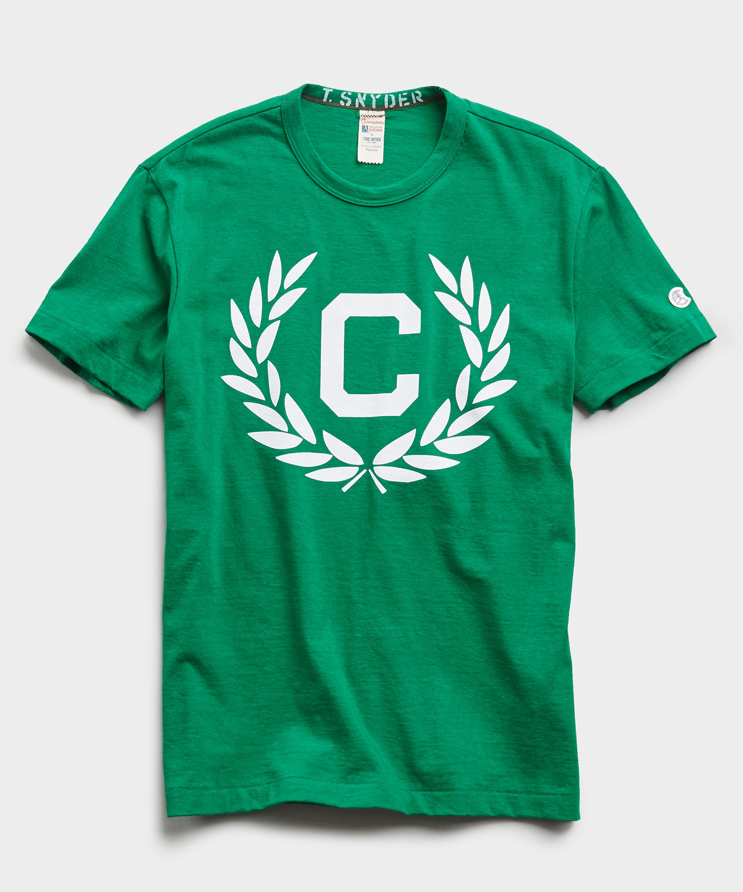 Olive Branch Tee in Turf Green